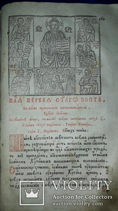 1804 Триод 33х21 см. Киево-Печерская Лавра, фото №8