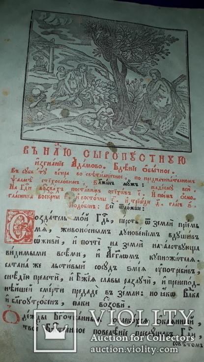 1804 Триод 33х21 см. Киево-Печерская Лавра, фото №10