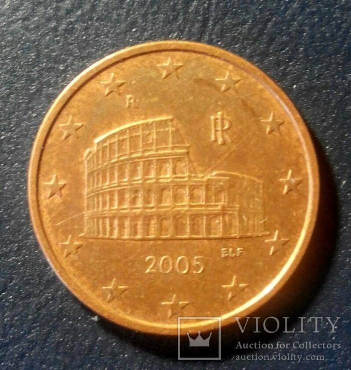 Италия 5 евро цент 2005, фото №3