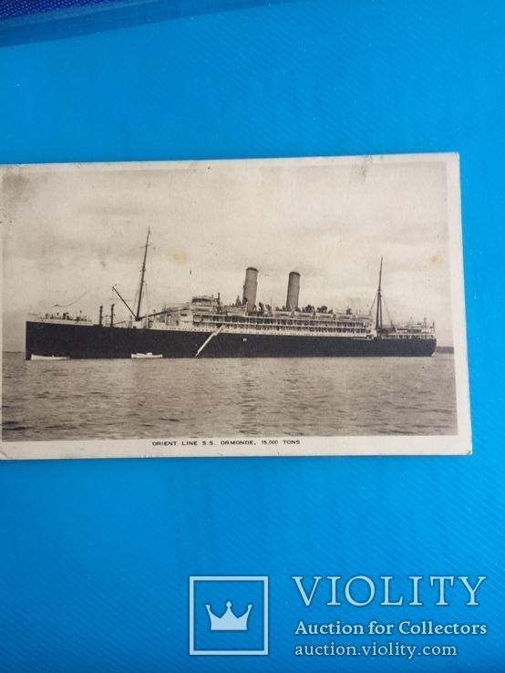 Круизная открытка 1945 год Orient line, фото №2