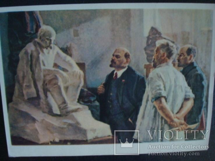 В.И.Ленин осматривает проект памятника Т.Г.Шевченко 1964г., фото №3