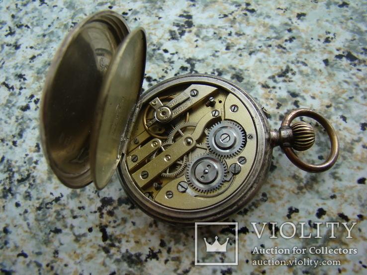 Часы карманные XIX век Швейцария серебро, фото №6