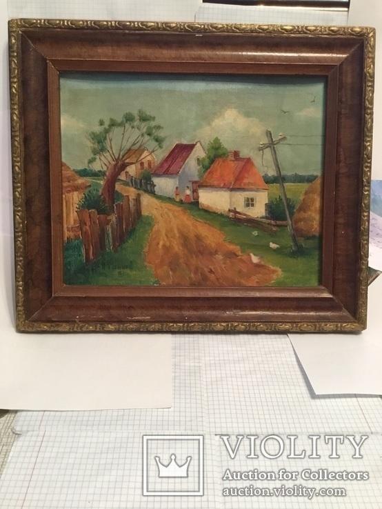 Картина сільській пейзаж., фото №3