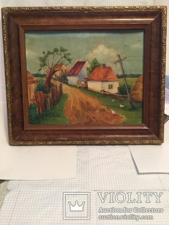 Картина сільській пейзаж., фото №4