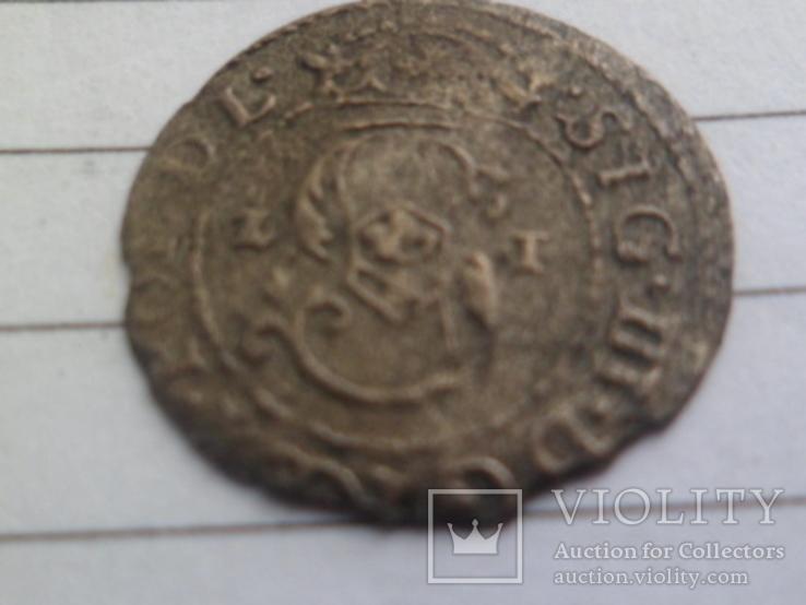 Солид 1621г Сигизмунд III , г Рига, фото №5