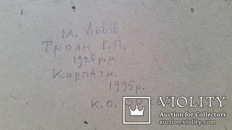 """Троян Г.П. """"Карпати"""", 1995р., 50х60 см, фото №8"""