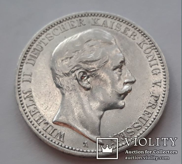 3 марки 1911г.Вильгельм2  Пруссия, фото №4