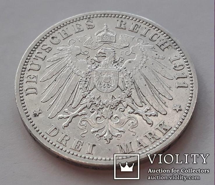 3 марки 1911г.Вильгельм2  Пруссия, фото №5