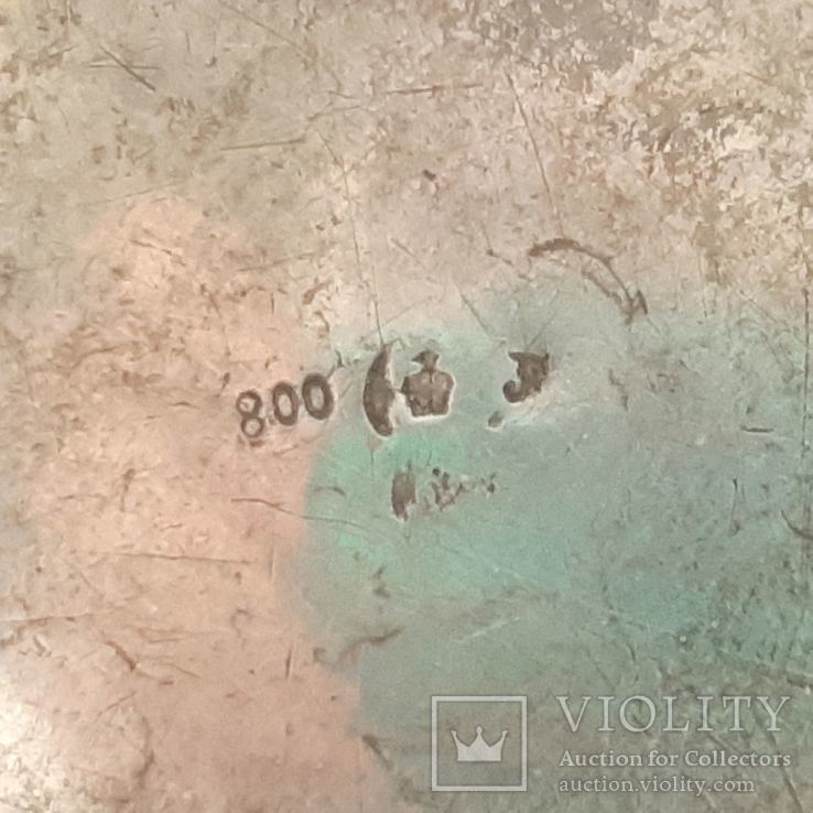 Чайник кофейник серебро 800 проба, Германия, 614г, фото №6