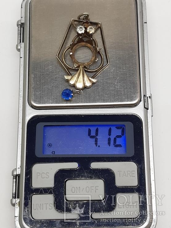 Кулон серебро периода раннего СССР 875 проба, голова, Винтаж, фото №9