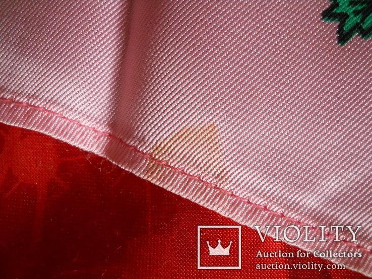 Платок розовый, 72х72 см., не носился СССР, фото №3