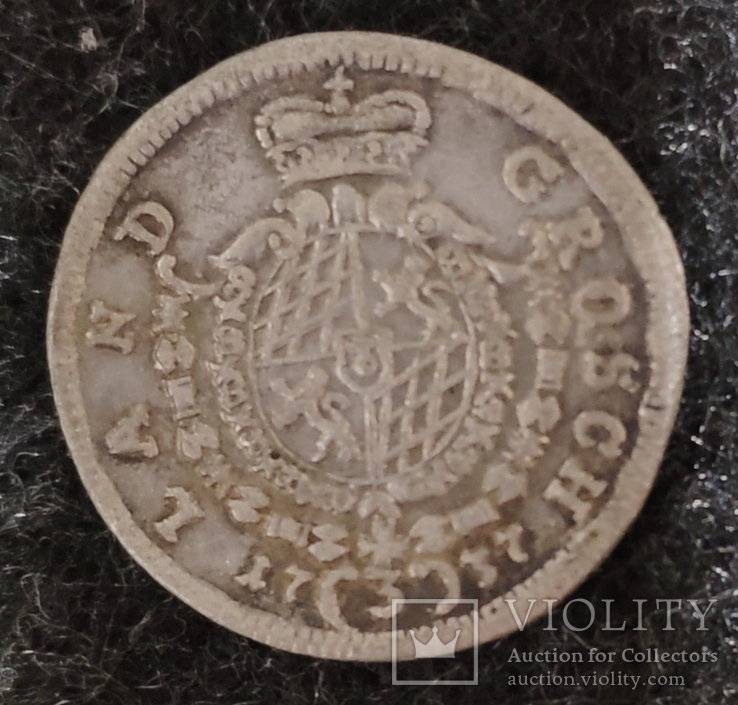 3 крейцера Бавария 1737 год, фото №3