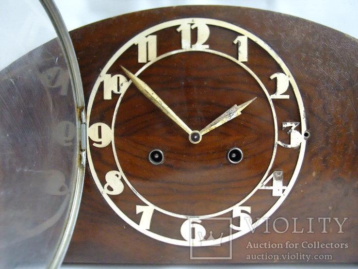 Каминные часы с боем Junghans 1934 г. W278 Германия., фото №4