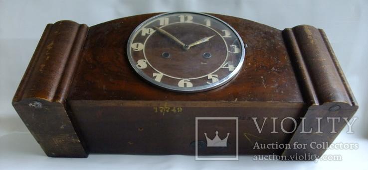 Каминные часы с боем Junghans 1934 г. W278 Германия., фото №5