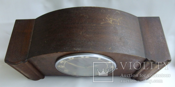 Каминные часы с боем Junghans 1934 г. W278 Германия., фото №7