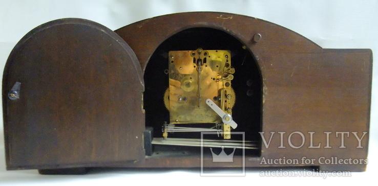 Каминные часы с боем Junghans 1934 г. W278 Германия., фото №9
