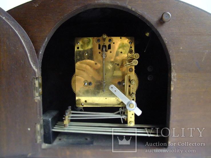 Каминные часы с боем Junghans 1934 г. W278 Германия., фото №10