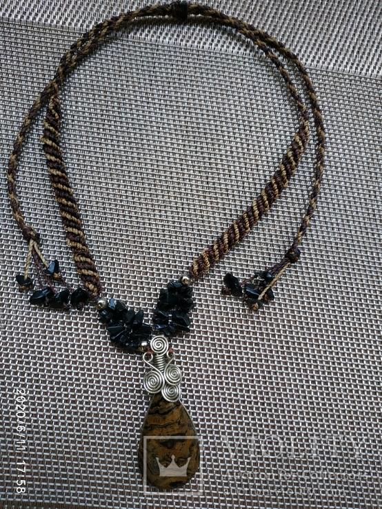Колье подвеска натуральный камень, фото №2
