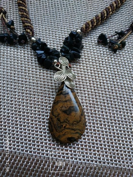 Колье подвеска натуральный камень, фото №3