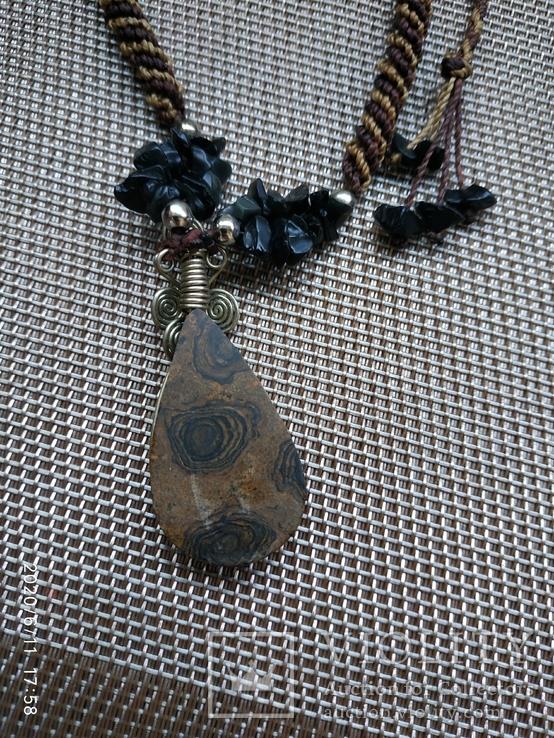 Колье подвеска натуральный камень, фото №8