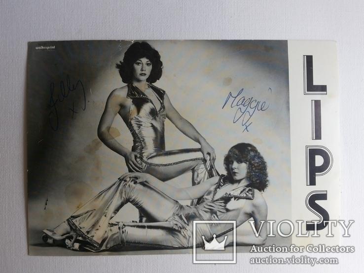 Автограф вокальный дуэт Lips Великобритания, фото №2