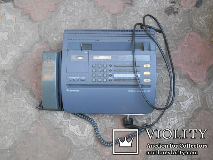 Факс немецкий Schneider, нерабочий +  кассета для записи, фото №2