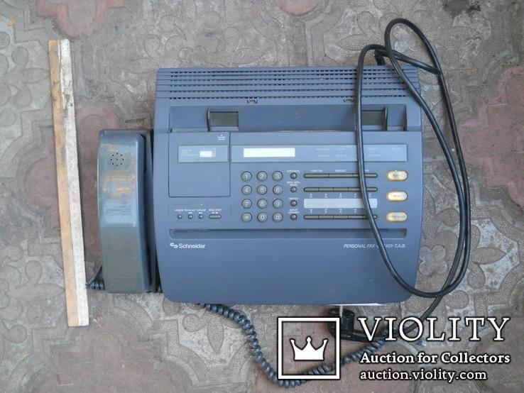 Факс немецкий Schneider, нерабочий +  кассета для записи, фото №3