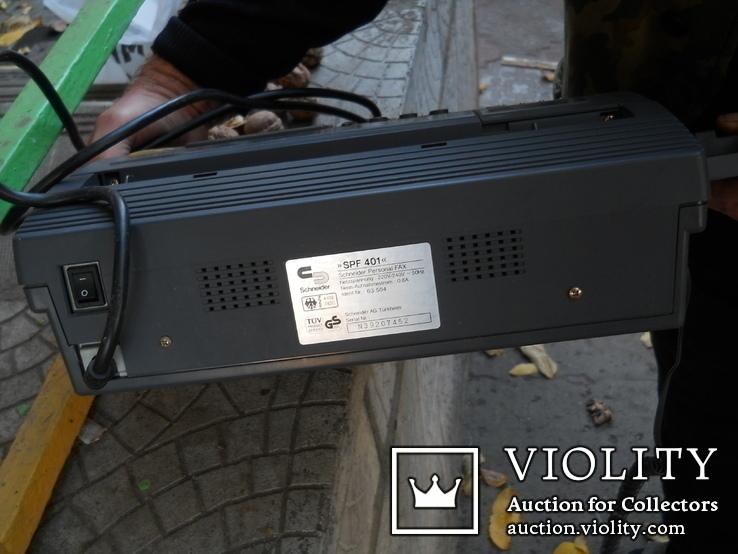 Факс немецкий Schneider, нерабочий +  кассета для записи, фото №9