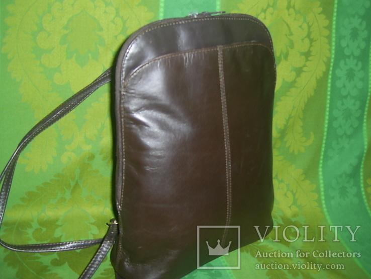 Сумка- рюкзачок кожа Европа, фото №2