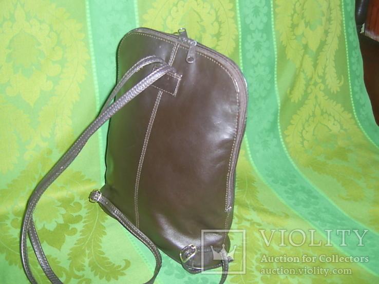Сумка- рюкзачок кожа Европа, фото №3