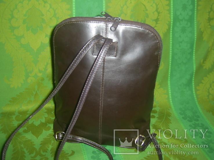 Сумка- рюкзачок кожа Европа, фото №4