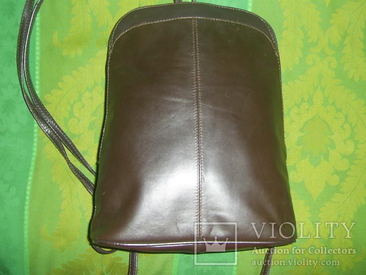Сумка- рюкзачок кожа Европа, фото №6