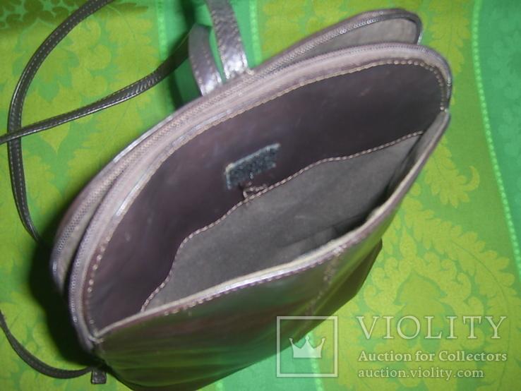 Сумка- рюкзачок кожа Европа, фото №7