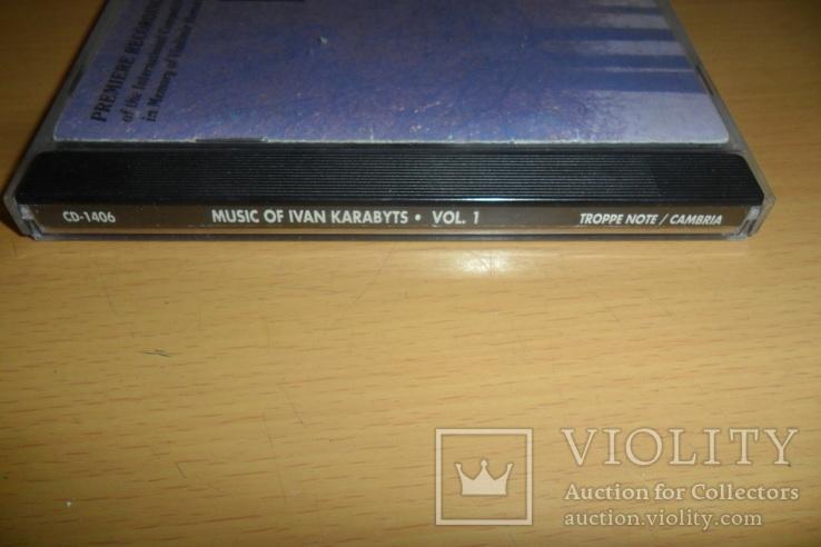 Диск CD сд Ivan Karabyts Иван Карабитц U.S.A., фото №3