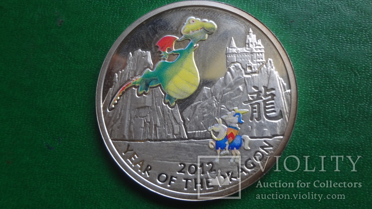 1  доллар 2011  Ниуэ год Дракона   серебро     (2.3.10)~, фото №2