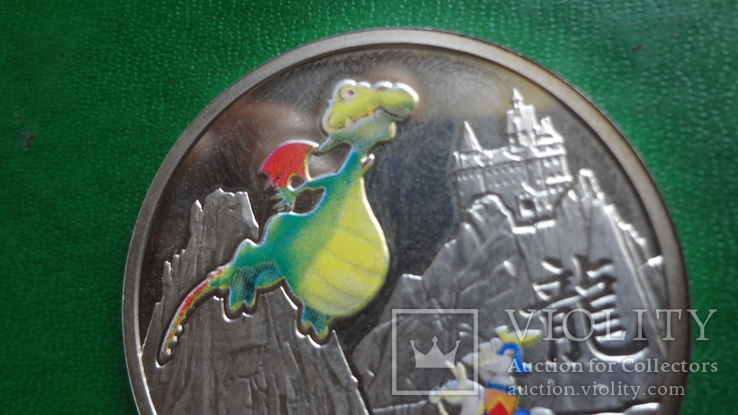 1  доллар 2011  Ниуэ год Дракона   серебро     (2.3.10)~, фото №3