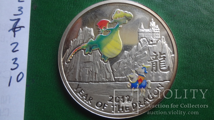 1  доллар 2011  Ниуэ год Дракона   серебро     (2.3.10)~, фото №9