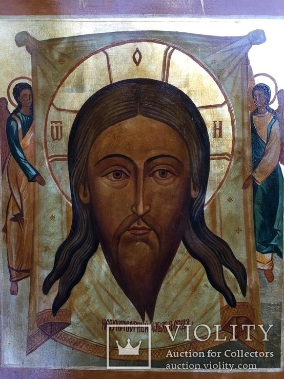 Икона Спас Нерукотворный невыкупленный лот, фото №4