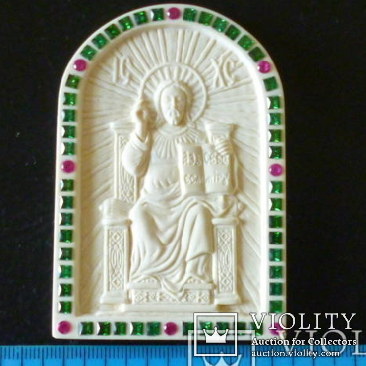 Иисус вседержитель -бивень мамонта, фото №2