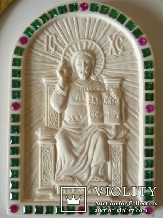 Иисус вседержитель -бивень мамонта, фото №3