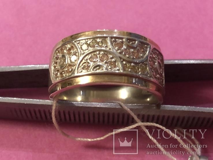 Кольцо. Серебро и золото. Новое., фото №2