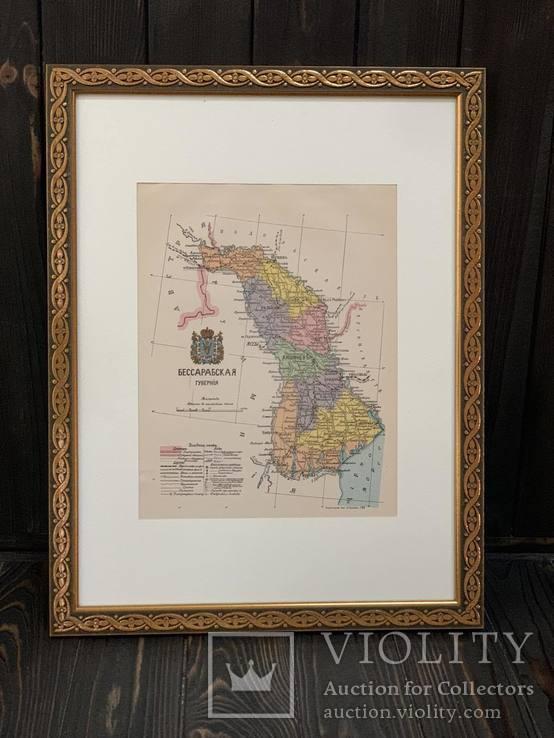 1900-е Карта Бессарабской губернии