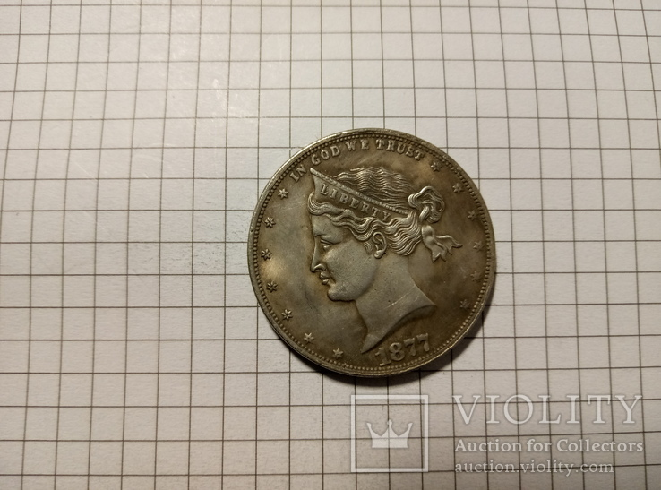 1/2 доллара 1877 США #274копия, фото №2
