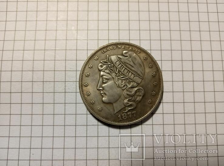 1/2 доллара 1877 США #279копия, фото №2