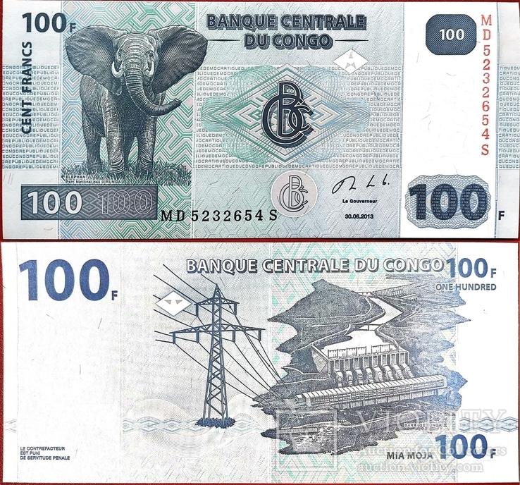 Конго ДР Congo DR - 100 франк franc - 2007