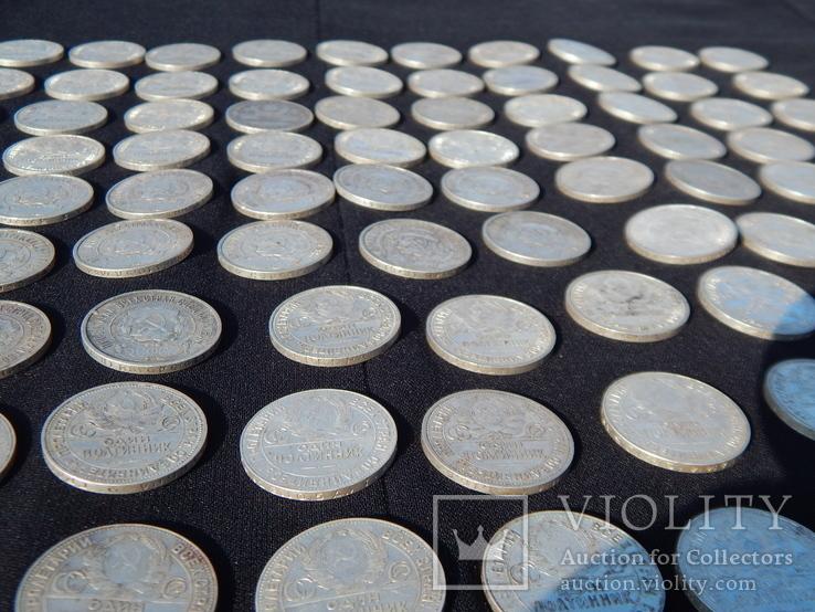 Серебрянные советские  полтинники 96 шт. и 1 рубль., фото №13
