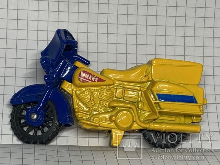 Винтажная металическая чинила для карандашей в форме мотоцикла, фото №4