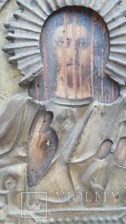 Икона Спаситель в окладе бронза, фото №6