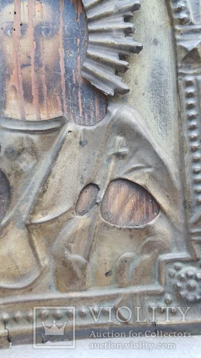 Икона Спаситель в окладе бронза, фото №7