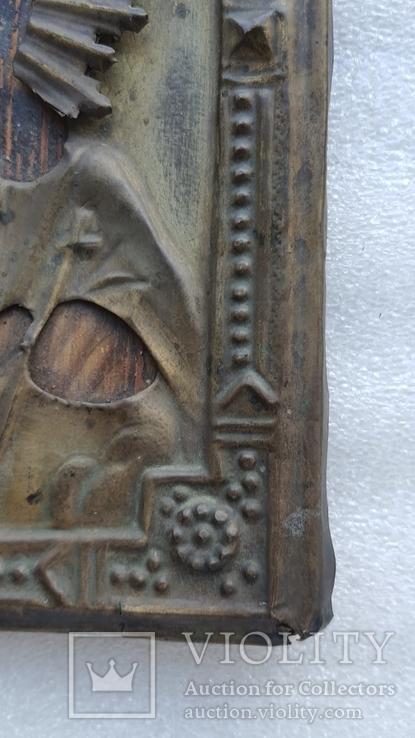 Икона Спаситель в окладе бронза, фото №10